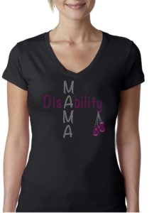 DisAbility Mama Bling T-shirt
